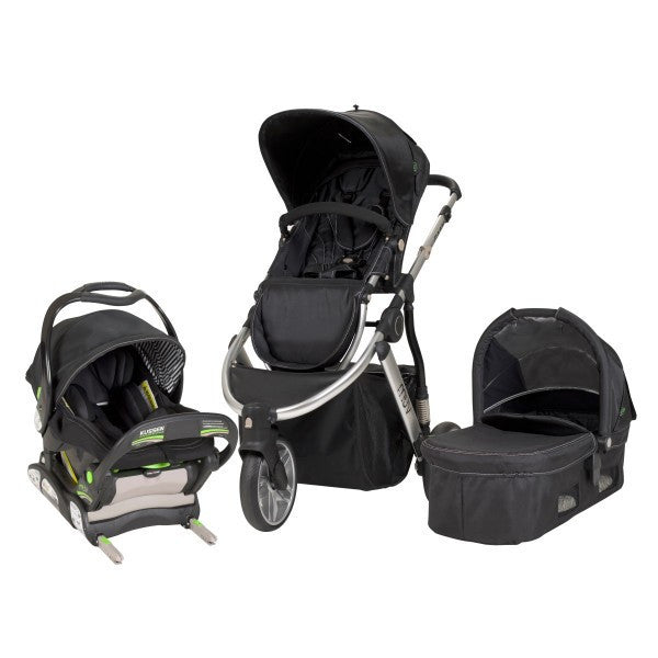 Muv Gaan Travel System with Infant Car Seat & Bassinet (Arctic Silver)