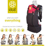 Líllébaby COMPLETE All Seasons Baby Carrier - Charcoal/Berry (NEW with Pockets)