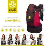 Lillebaby Complete Airflow Baby Carrier  - Charcoal & Berry (NEW with Pockets)