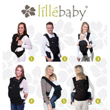 Líllébaby COMPLETE All Seasons Baby Carrier (NEW with Pockets) 6 Points Carrying Position