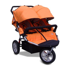 Tike Tech City X3 Double Swivel Stroller - Autumn Orange