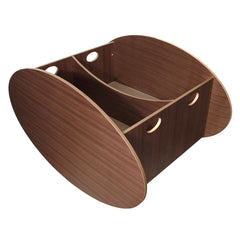 So Ro Contemporary Twin Cradle - Walnut