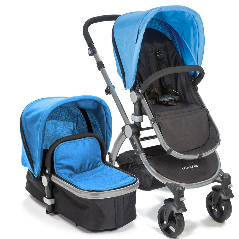 Baby Roues Letour II Stroller - Blue (Frosted Frame)