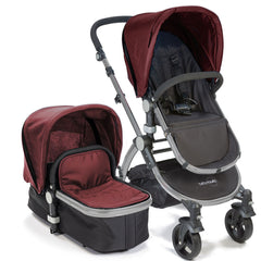 Baby Roues Letour II Stroller - Raspberry (Frosted Frame)