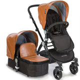 Baby Roues Letour Lux II Stroller - Camel Leatherette (Black Frame)