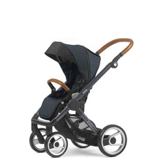 Mutsy Evo Industrial Stroller - Blue with Dark Grey Frame