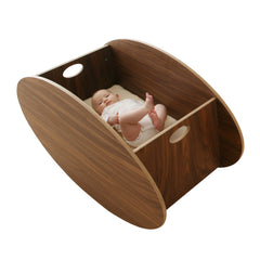 So Ro Contemporary Cradle - Walnut