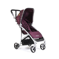 Babyhome Vida Light Weight Stroller Silver Frame - Purple