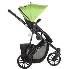 Muv Gaan 3 Wheel Stroller Black Frame with Bassinet - Kiwi