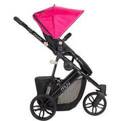 Muv Gaan 3 Wheel Stroller Black Frame with Bassinet - Candy