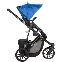 Muv Gaan 3 Wheel Stroller Black Frame with Bassinet - Sky