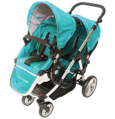 Baby Roues Letour Duet Double Stroller - Teal