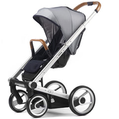Mutsy Igo Urban Nomad Stroller - White and Blue with Silver Frame