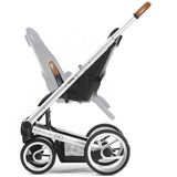 Mutsy Igo Urban Nomad Stroller - White and Blue with Black Frame