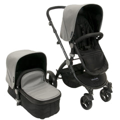 Baby Roues Letour Lux II Stroller - Gray Leatherette(Black Frame)