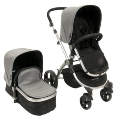 Baby Roues Letour Lux II Stroller - Gray Leatherette (Frosted Frame)