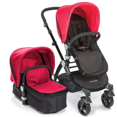 Baby Roues Letour II Stroller - Red (Black Frame)