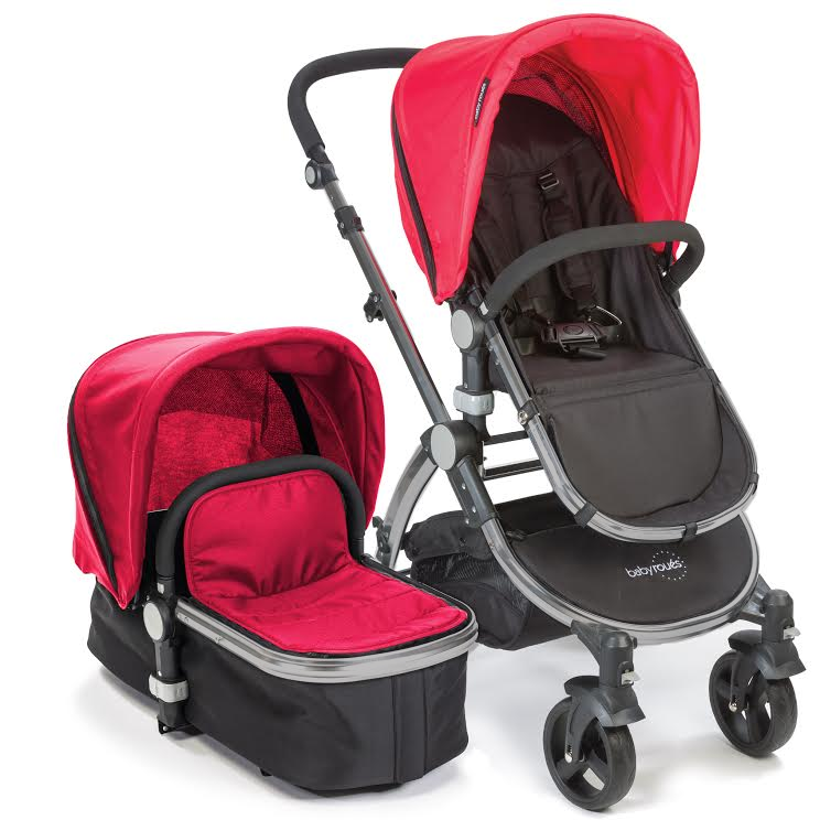 Baby Roues Letour II Stroller - Red (Frosted Frame)