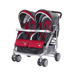 Zooper Tango Smart Double Stroller - Ruby Storm