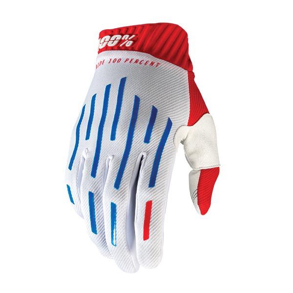 GUANTI 100% RIDEFIT RED/WHITE/BLUE