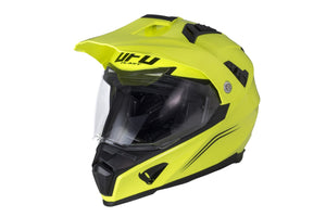 Casco Motocross enduro Aries giallo fluo