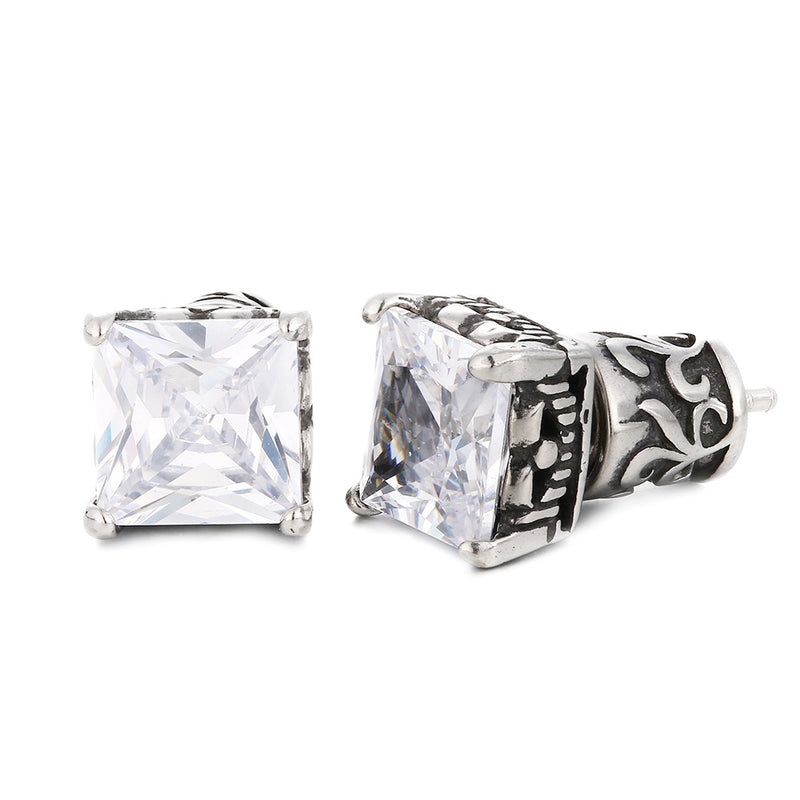 Square-Cut Diamond Studs