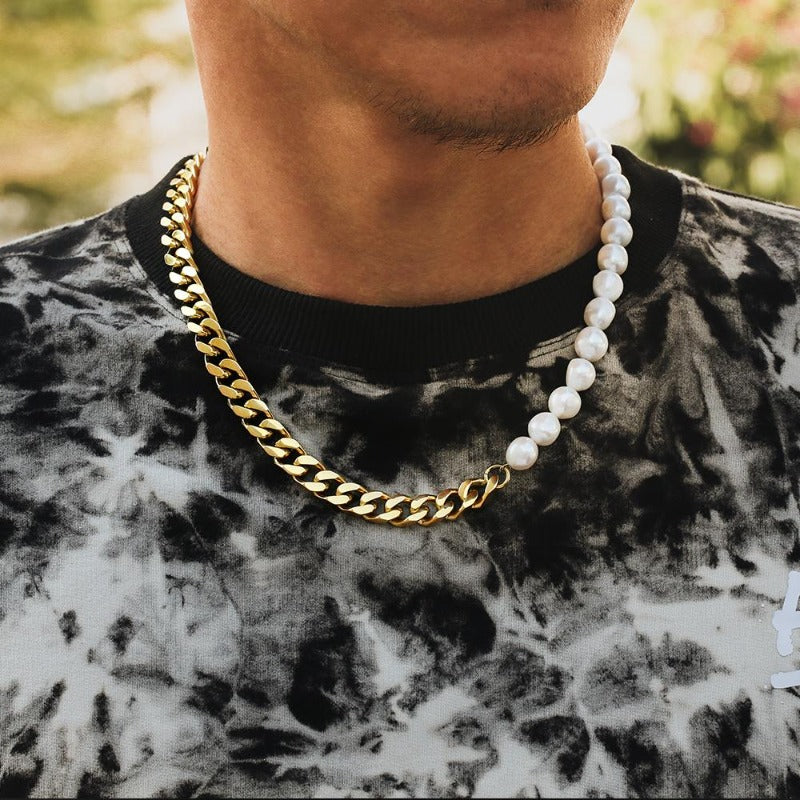 Pearl x Miami Cuban Link Necklace