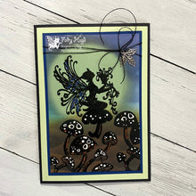 "Load image into Gallery viewer, Fairy Hugs - Backgrounds - 6"" x 6"" - Moon Glow Green"