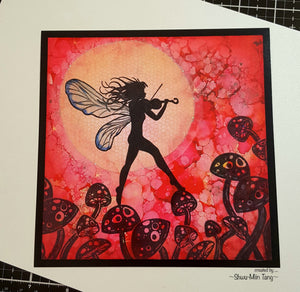 "Fairy Hugs - Backgrounds - 6"" x 6"" - Starry Moonlight"