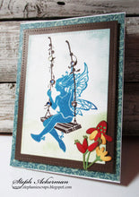 Load image into Gallery viewer, Fairy Hugs Stamps - Fairy Swing