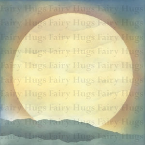 "Fairy Hugs - Backgrounds - 6"" x 6"" - Full Moon"