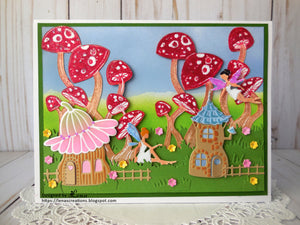 Fairy Hugs Stamps - Dancing Mushrooms