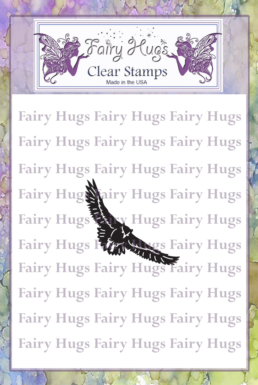 Fairy Hugs Stamps - Flying Owl