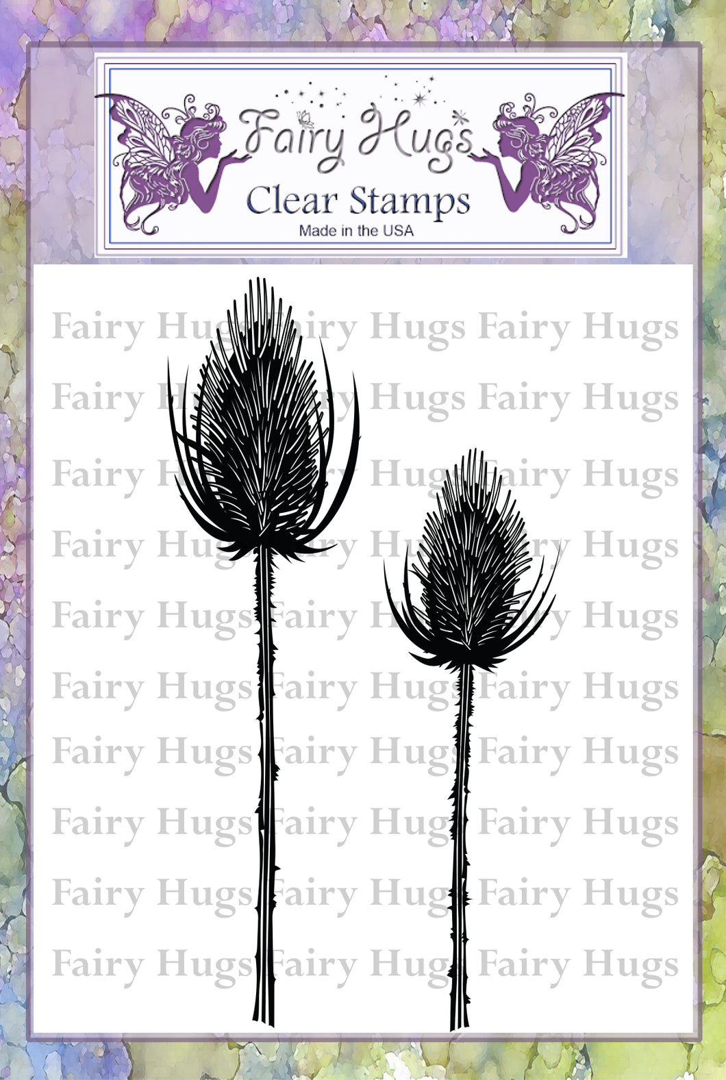 Fairy Hugs Stamps - Black Thistles