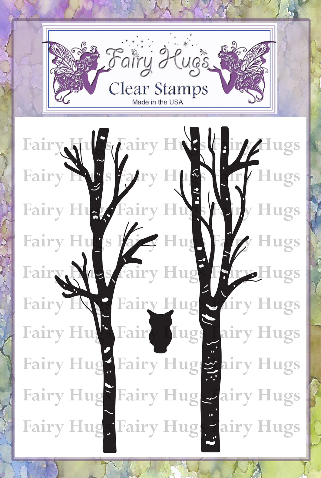 Fairy Hugs Stamps - Birch Tree Set
