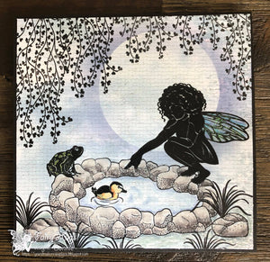 Fairy Hugs Stamps - Pond