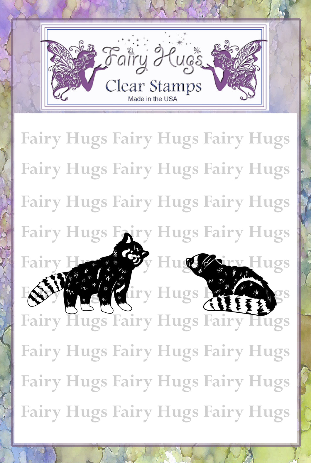 Fairy Hugs Stamps - Raccoon Set