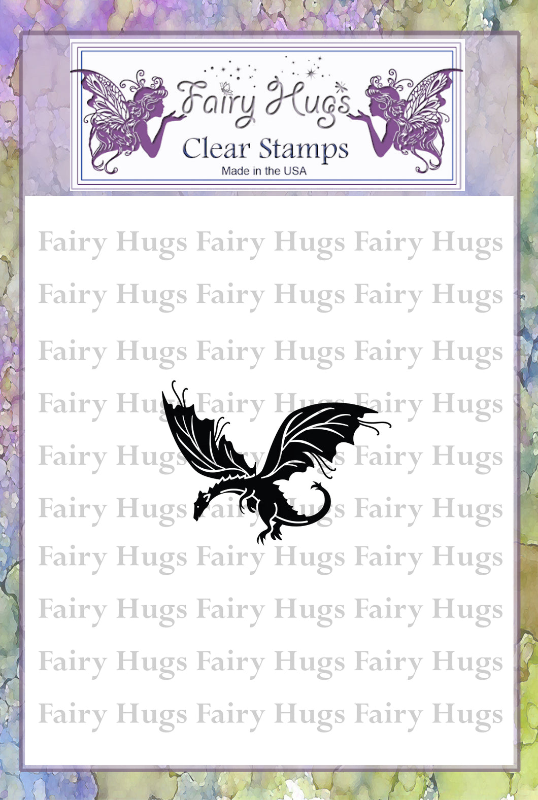 Fairy Hugs Stamps - Flying Dragon