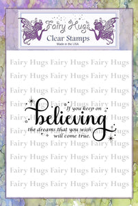 Fairy Hugs Stamps - Believing