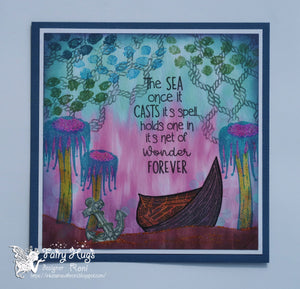 "Fairy Hugs - Fairy-Scapes - 6"" x 6"" - Sea Fair"
