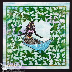 "Fairy Hugs - Fairy-Scapes - 6"" x 6"" - Seaweed Puddles"