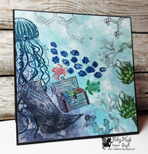 "Load image into Gallery viewer, Fairy Hugs - Fairy-Scapes - 6"" x 6"" - Deep Blue Sea"