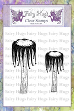 Load image into Gallery viewer, Fairy Hugs Stamps - Jester Mushrooms