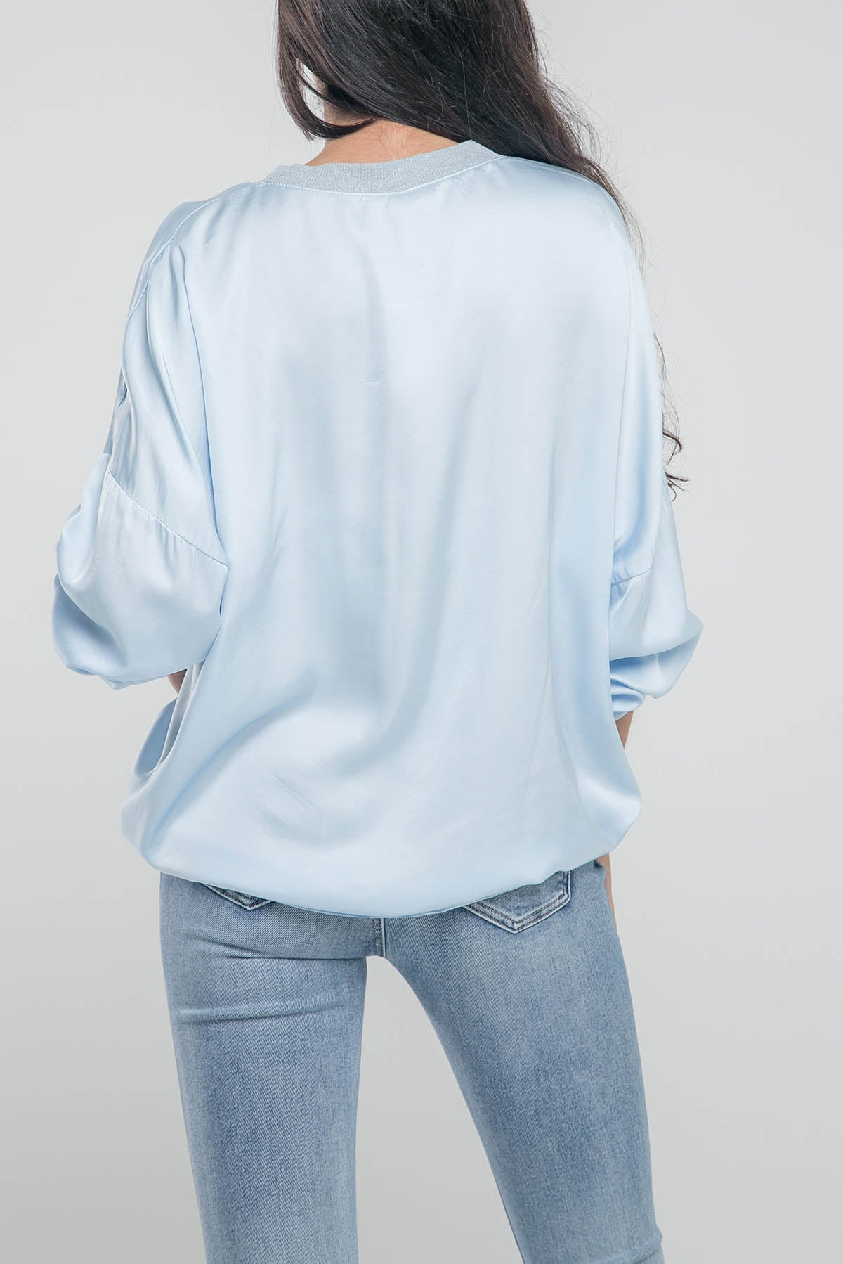 CAMISETA SATIN CUELLO LUREX