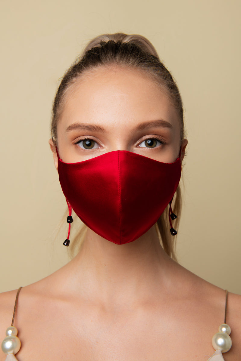 Red Face Mask - AeriaNYC