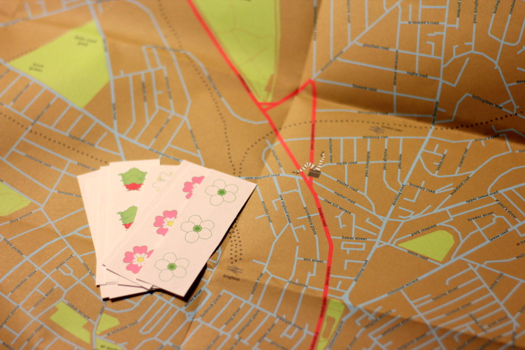 Brighton Foraging Map Claire Potter