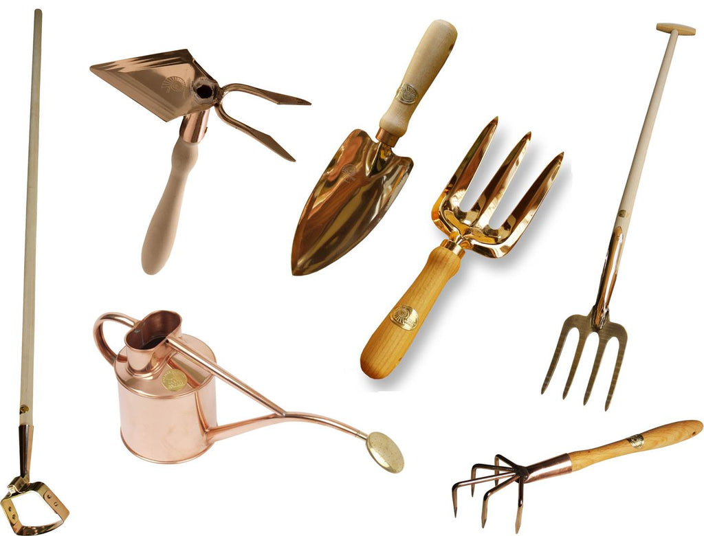 Copper garden tools what you sow for Tools for backyard gardening