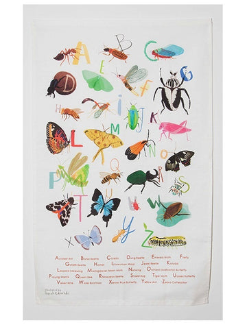 Insectabet Tea towel by Sarah Edmonds