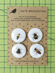 Kate Broughton Bee Badges from What You Sow
