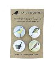 Bird badges by Kate Broughton at What You Sow